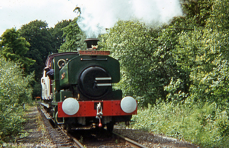 Another view of Andrew Barclay 0-4-0ST 'Rosyth No. 1' in steam at the BSC Velindre Works Gala Day, 30th June 1979.