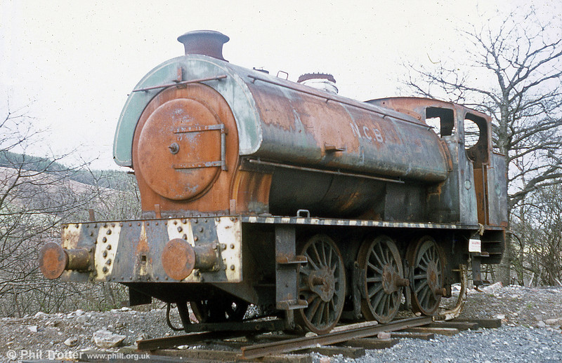 Before and after.... Bagnall 0-6-0ST 3846/1946 shortly after it had arrived at Cefn Coed Colliery Museum, Neath.