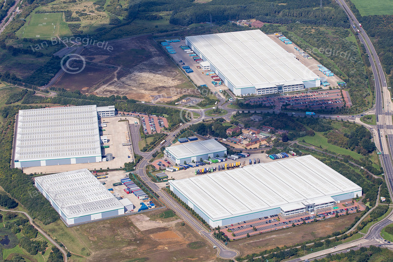 Aerial photo of Kettering North Business Park.