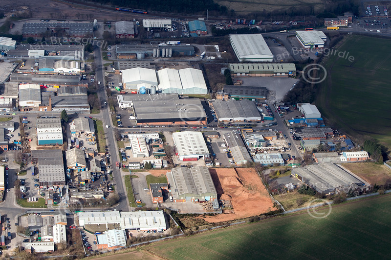 Lowmoor Industrial Estate from the air.