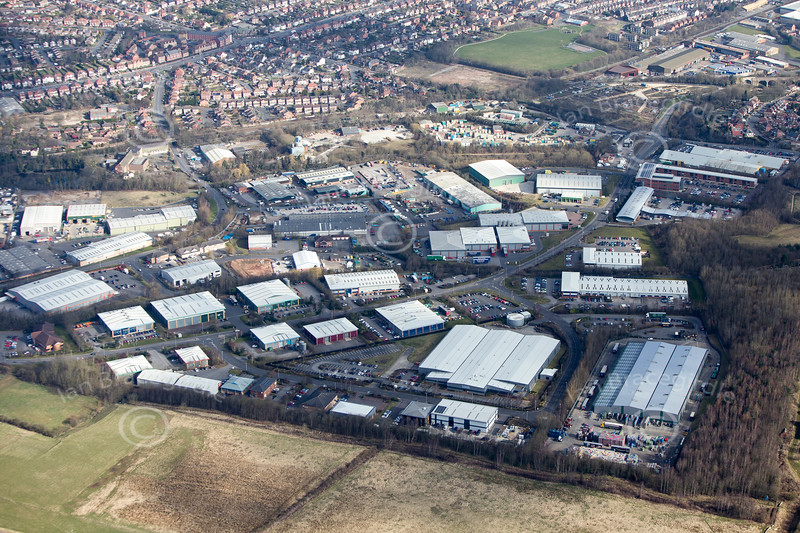 Maun Valley industrial Estate from the air.