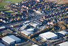 Aerial photo of Millenium Business Park in Mansfield Nottinghamshire.