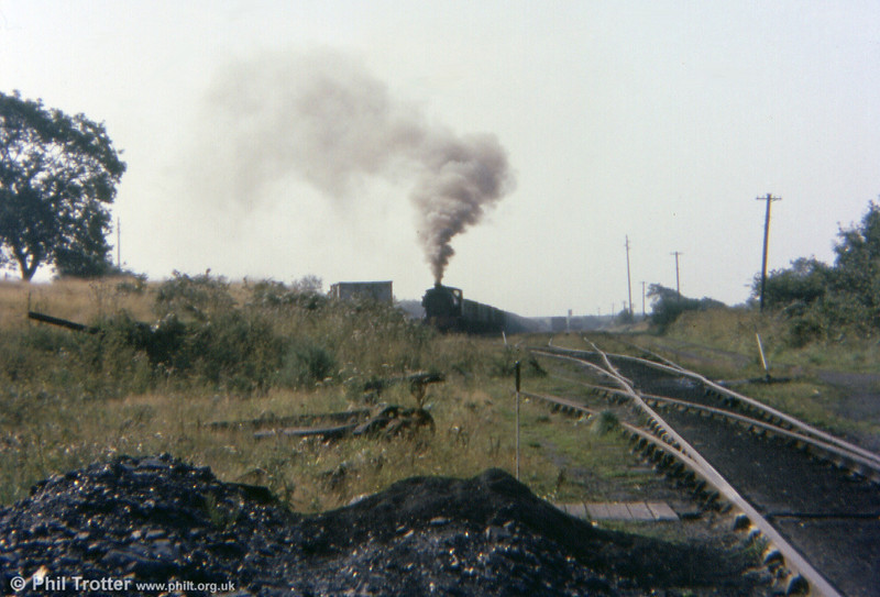 0-6-0ST 'Norma' seen in the distance at the exchange sidings on 13th September 1977.