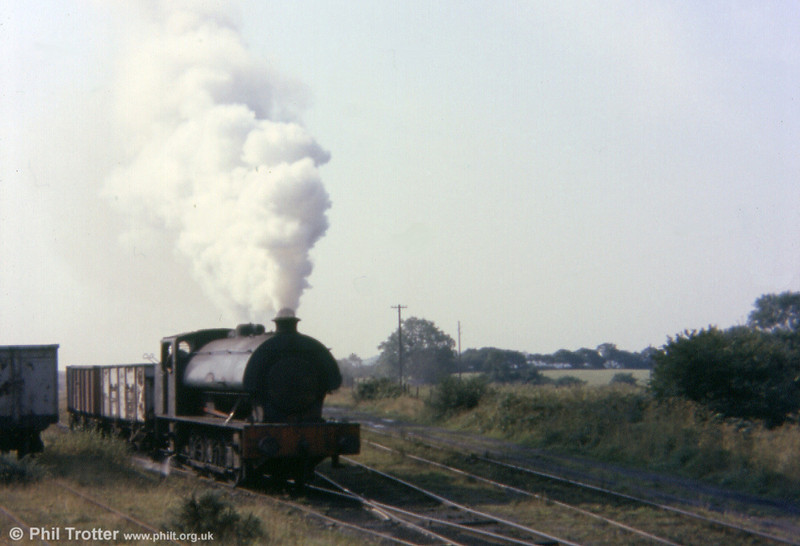 'Norma' at Pontarddulais exchange sidings on 13th September 1977. The loco subsequently passed to the Cambrian Railway Society, Oswestry, where it is awaiting overhaul. A housing estate now occupies this site.