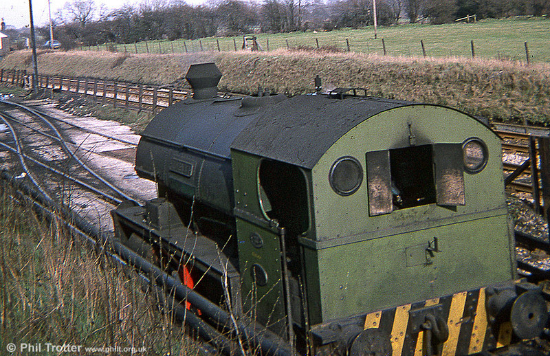 A cab view of Peckett 0-4-0ST 'Hornet' at Bersham in March 1978.