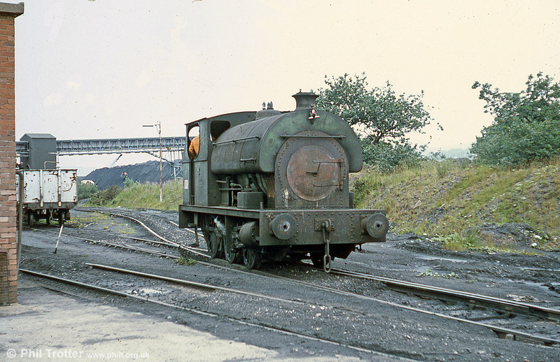 Peckett 0-6-0ST no. 2114 of 1951 at Brynlliw Colliery in July 1980.
