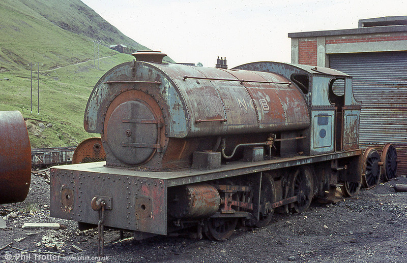 Peckett 0-6-0ST no.2150 of June 1954. Once named 'Mardy No.1' but perhaps better known as the 'Mardy Monster', it is seen stored OOU at Mardy Colliery.
