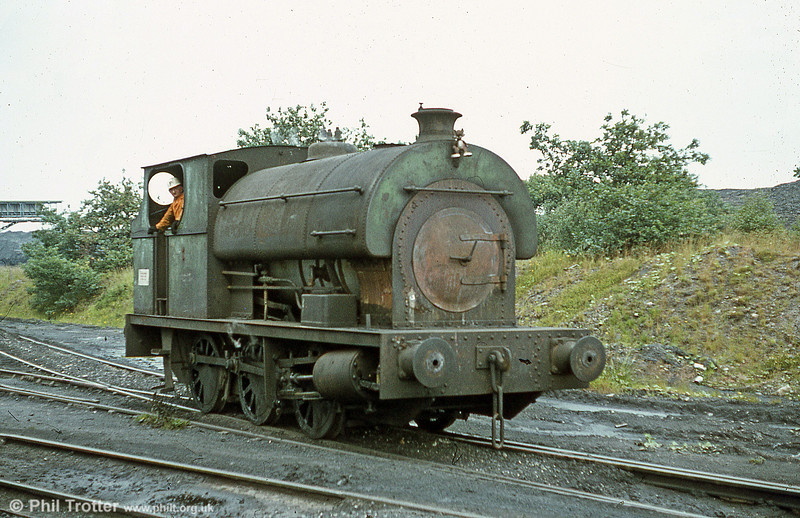 A further view of Peckett 0-6-0ST no. 2114 of 1951 at Brynlliw Colliery in July 1980.