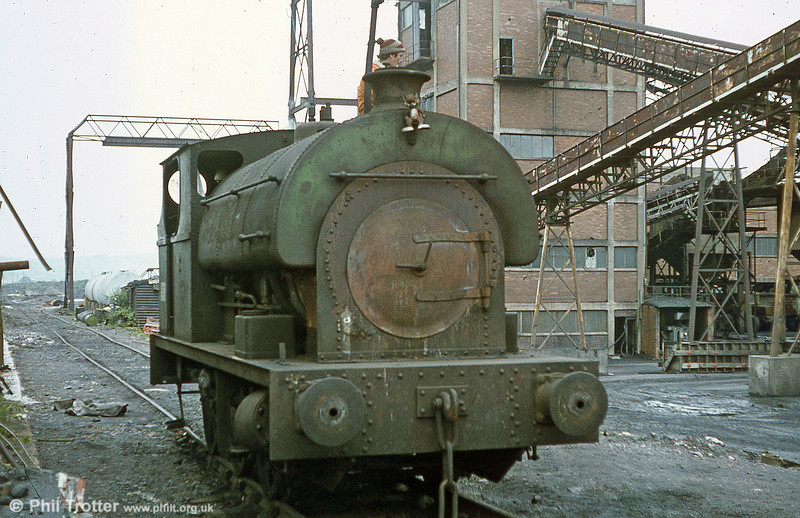 Peckett 0-6-0ST no. 2114 of 1951. Brynlliw Colliery, July 1980.