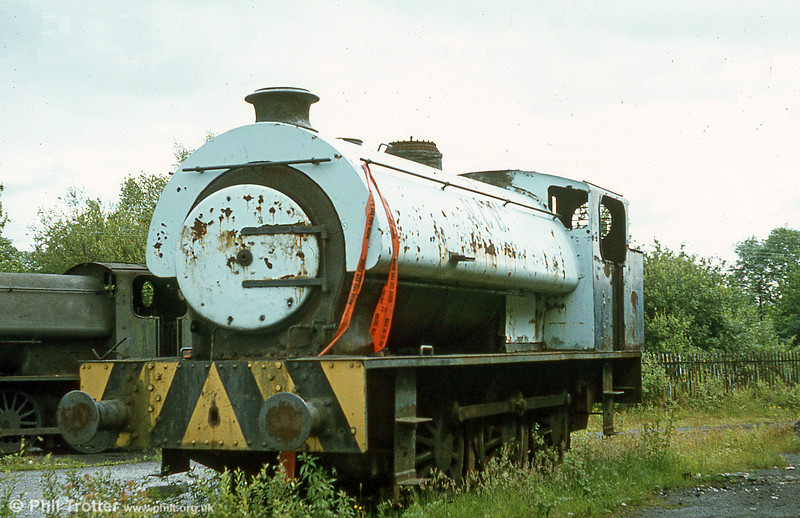 Three views follow of 'Austerity' 0-6-0STs in store at Pontarddulais in July 1980. This is RSH 7170/1944.