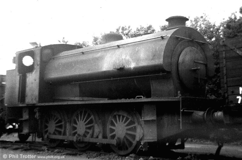 One of the last strongholds of NCB steam in Britain was the Graig Merthyr Colliery system at Pontarddulais, which closed in 1978. A poor shot of an Austerity 0-6-0ST in store at Graig Merthyr Colliery.