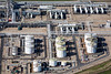 A stock aerial photo of industrial equipment used in refineries.