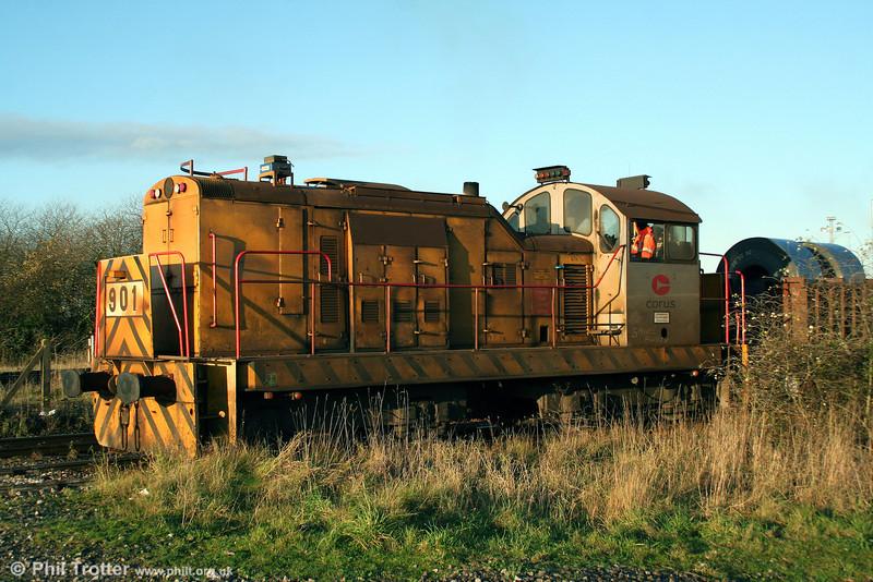 Corus (Port Talbot) 901, Brush Bagnall Bo-BoDE (3063/1955) at Knuckle Yard on 12th December 2009.