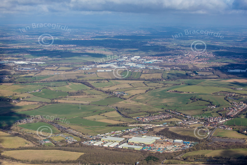 Park Lane Business Park from the air.