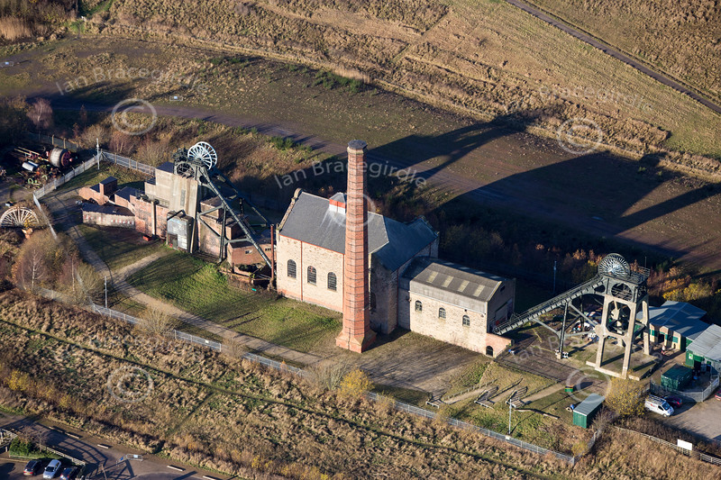 An aerial photo of Pleasley Colliery in Nottinghamshire.