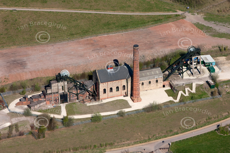 Aerial photo of the disused Pleasley Colliery.