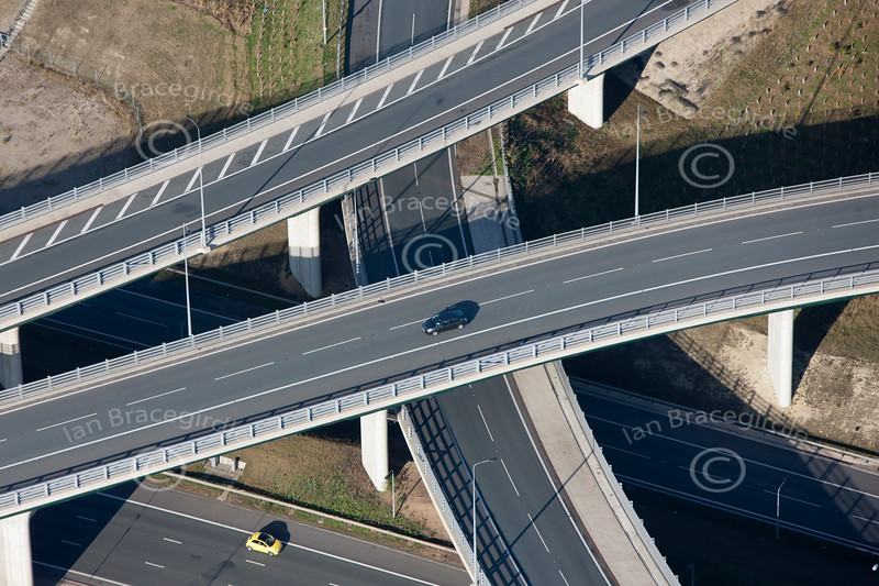 Aerial photo of a new road project