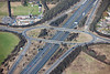 Aerial photo of a road junction on the M1 Motorway.