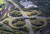 Aerial photo of a road junction in Redditch, Warwickshire.