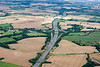 An aerial photo of the M1 motorway