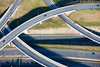 Aerial photo of a new motorway junction project