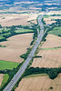 Aerial photo of M1 motorway-2