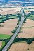 Aerial photo of M1 motorway-2