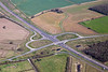 Aerial photo of a road junction on the A46