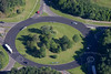 Aerial photo of roundabout.