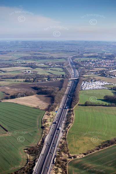 M1 Motorway from the air
