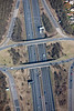 Aerial photo of M1 motorway-4