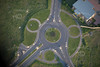 Aerial photo of roundabout at Fernwood Business Park near Newark in Nottinghamshire.
