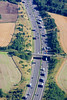 Aerial photo of a busy dual carriageway.