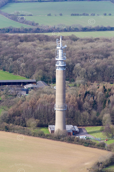 Aerial photo of Stokenchurch BT Tower.