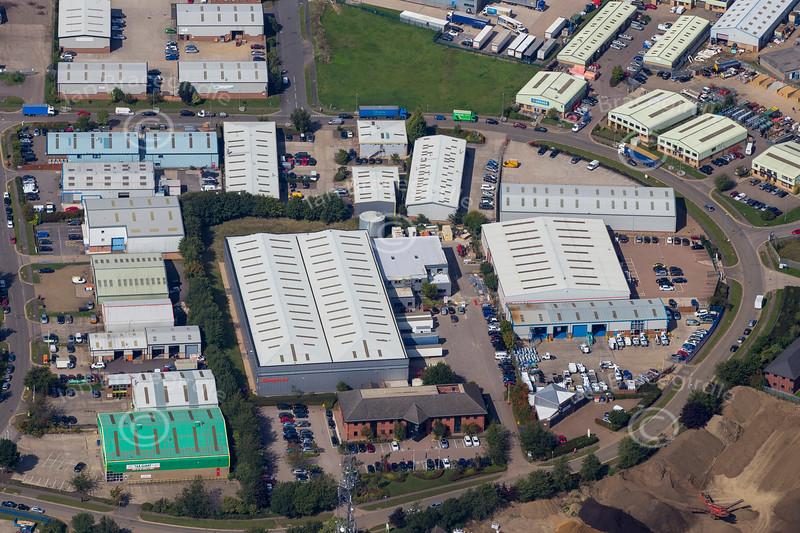 Aerial photo of Telford Way Industrial Estate, Kettering.