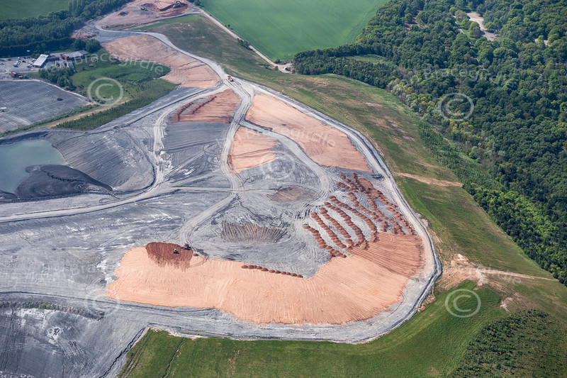 Aerial photo of Thoresby Colliery-151