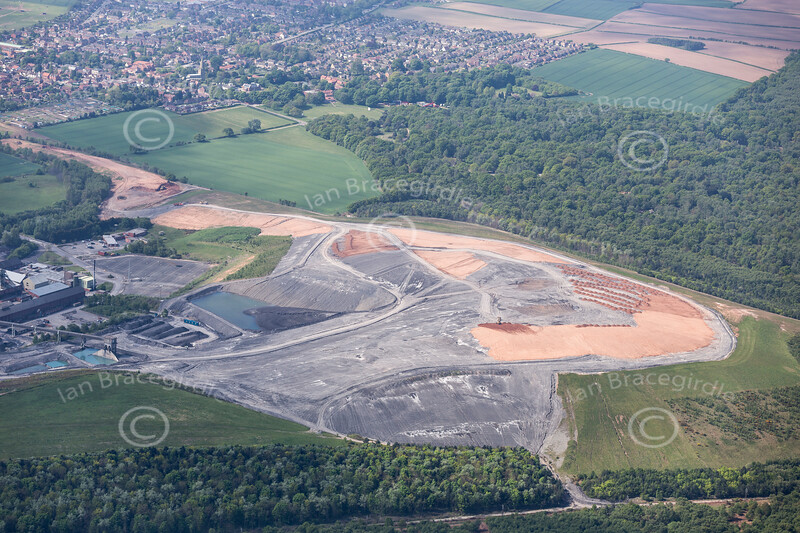 Aerial photo of Thoresby Colliery-150