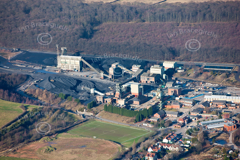 Welbeck Colliery from the air.