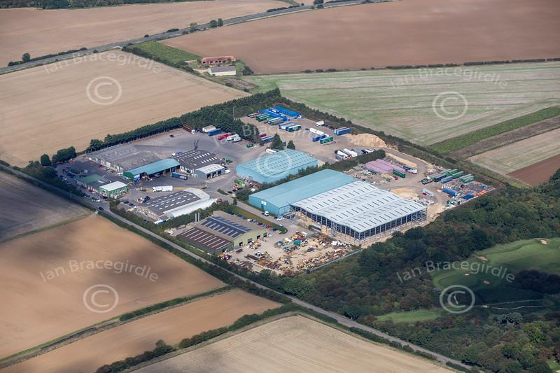 Aerial photo of Wireless Hill industrial estate in South Luffenham, Rutland.