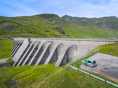 The ScottishPower Cruachan Hydroelectric Power Station on Loch Awe, near Dalmally, Scotland.