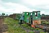 No. 4 (Diema 2242) and No. 1 (Diema 2639/63) at the Klasmann and Deilmann (Midland Irish Peat) railway at Rathowen, Co. Westmeath. Fri 30.07.10
