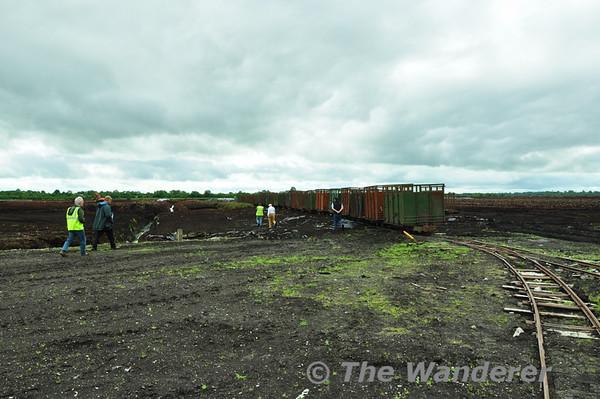 Klasmann and Deilmann (Midland Irish Peat) railway at Rathowen, Co. Westmeath