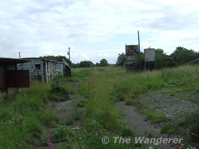 The long closed loco depot at Cushina, Co. Offaly which was a depot for Portarlington Power Station. Sun 29.06.08