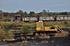 LM426 heads out into the bogs from Blackwater to load up its train with milled peat. Fri 11.10.19