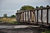 Peat train led by LM429 crossing the public road at Blackwater Works. Fri 11.10.19