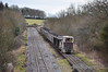 LM422 near the closed Croghan Factory with a train of empties to Newtown Bog. Sat 27.02.10