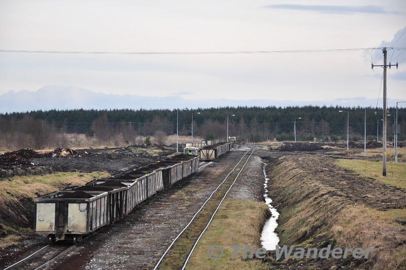 Bord na Mona Peat Train near Edenderry Power Station. Sat 20.02.10