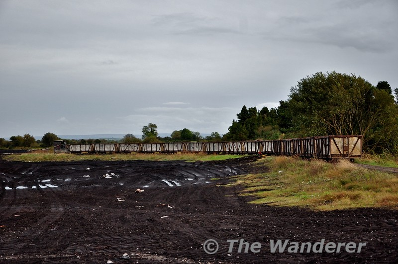 LM403 passes Blackwater Works heading from Shannonbridge to the Bog for loading. Fri 11.10.19