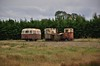 Withdrawn locos and carriage including LM254 at Blackwater Works. Fri 11.10.19