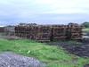 Former track panels awaiting disposal in Derrylea Bog. Thurs 07.07.08